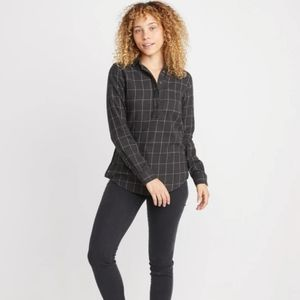 Marine Layer Diana Popover Flannel Button Shirt